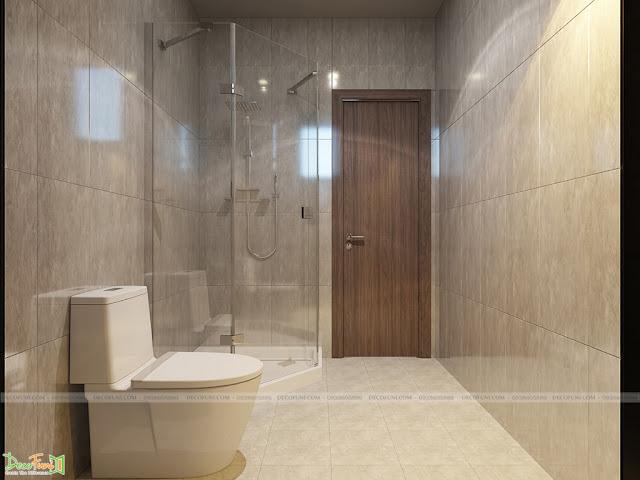 Thiết kế và thi công căn hộ chung cư Compass One - Tp. Thủ Dầu Một, Bình Dương - Toilet phòng Master