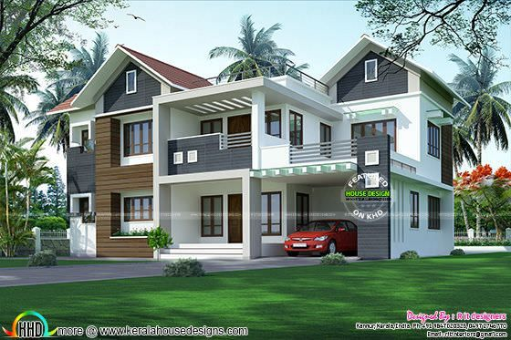 Modern mixed roof home 2984 sq-ft