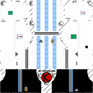 Argentina 2018 World Cup Kit -  Dream League Soccer Kits