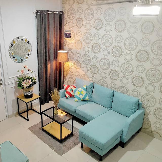 Inspirasi Motif Wallpaper Dinding Ruang Tamu Sempit Minimalis Terbaru