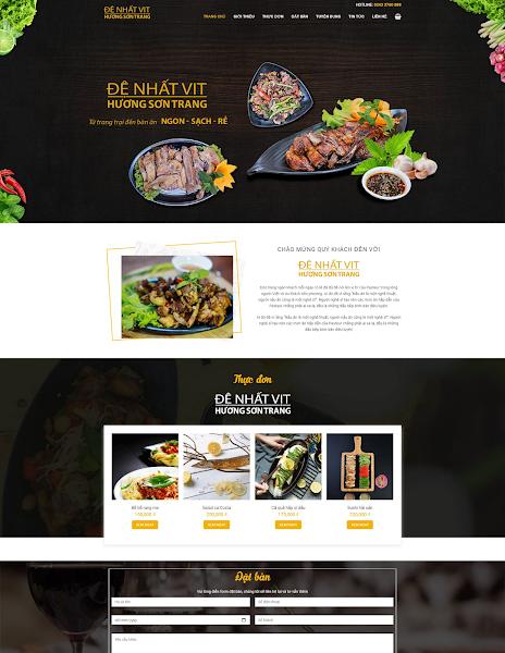 Template blogspot nhà hàng, quán ăn đẹp chuẩn seo