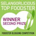 Selangorlicious 2011 Second Prize Winner