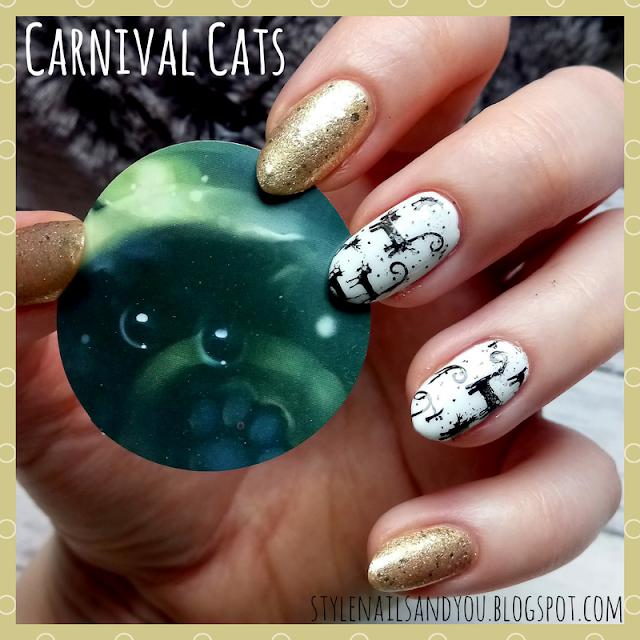 Carnival Cats   Born Pretty Stamping Plate BP-X51   Born Pretty Store Review