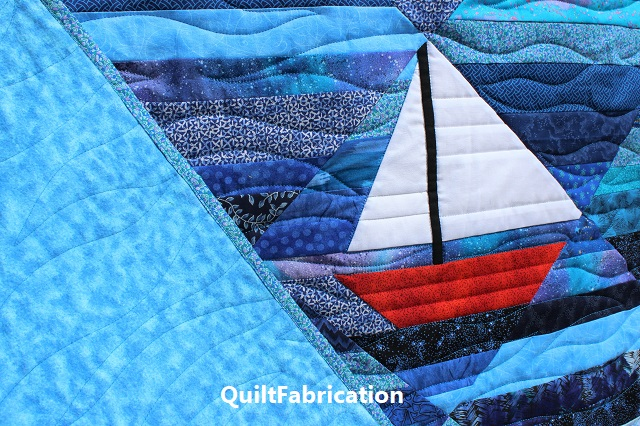 Seafarer lap quilt by QuiltFabrication