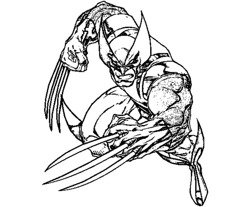 #11 wolverine coloring page