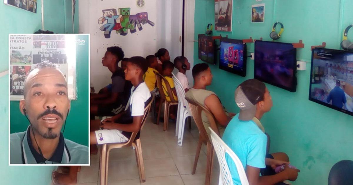Homem monta Game House para proteger crianças e adolescentes da criminalidade em Salvador (BA)