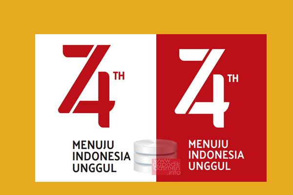 Tema dan Logo HUT Kemerdekaan RI ke-74, Tema dan Logo HUT ke-74 Kemerdekaan RI, Logo Peringatan Hari Ulang Tahun Republik Indonesia ke 74 Tema Menuju Indonesia Unggul