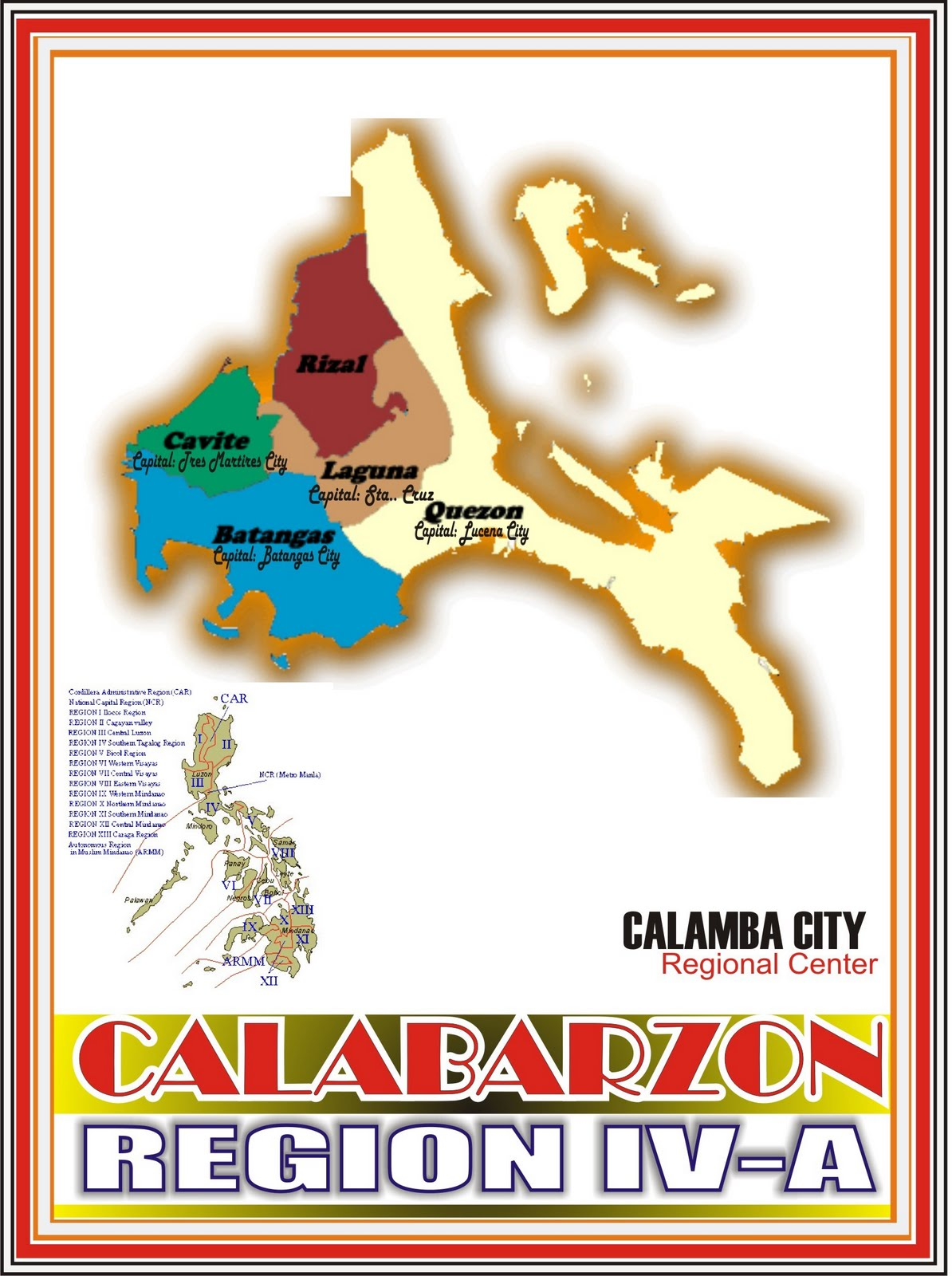 Mellec Computer Center Araling Pinoy: Region 4A - CALABARZON