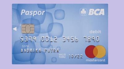 Kartu atm paspor blue bca