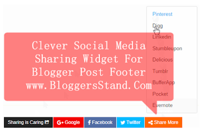 Adding a Clever Social Media Sharing Widget in Blogger Post Footer