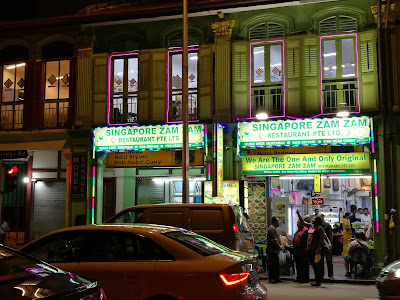 satu lagi tempat famous di Singapura, iaitu Restoran Zam Zam
