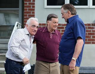 El director Martin Scorsese junto a Al Pacino y Robert De Niro en El irlandés