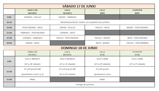 horarios torneo Paúles