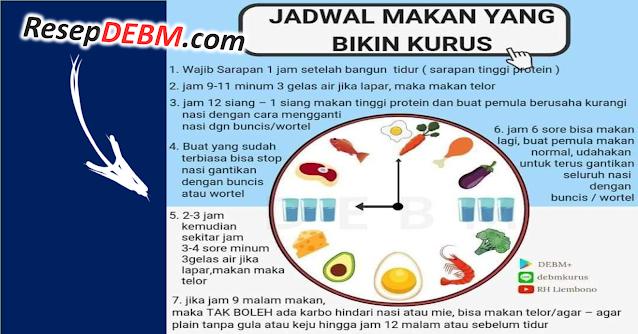 menu diet debm pagi siang malam