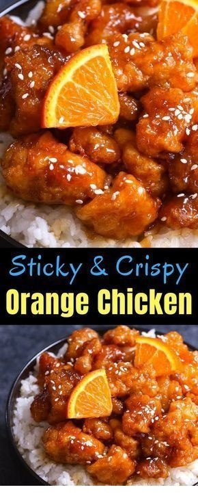 Sticky And Crispy Orange Chicken