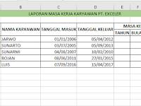 Mudahnya Menghitung Masa Kerja Karyawan Dengan Rumus Fungsi DATEDIF Excel