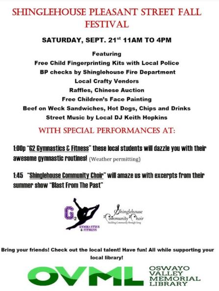 9-21 Shinglehouse Fall Festival