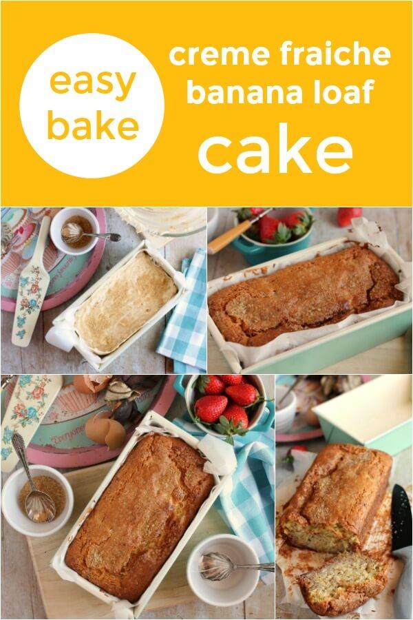 creme fraiche banana loaf cake