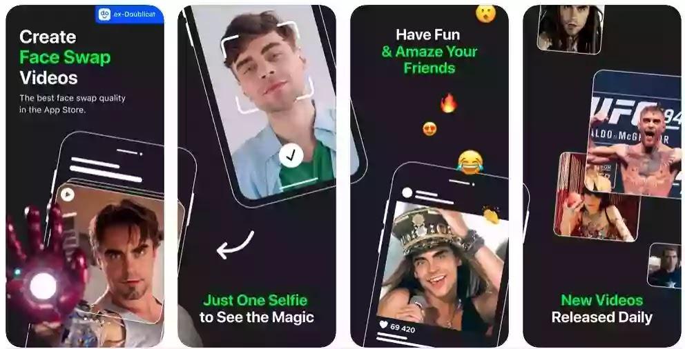 تطبيق جديد رائع يبدل وجهك بمقاطع فيديو للمشاهير بدقة مقلقة.