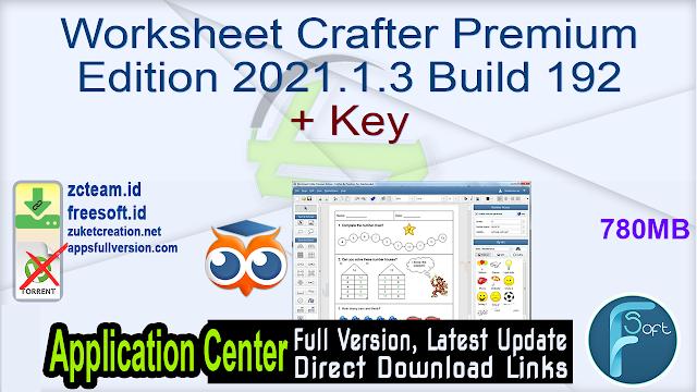 Worksheet Crafter Premium Edition 2021.1.3 Build 192 + Key