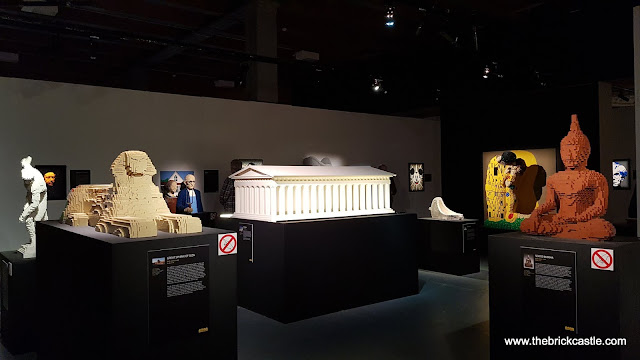 The Art Of The Brick LEGO brick model exhibition statues and paintings colliseum buddha sphinx