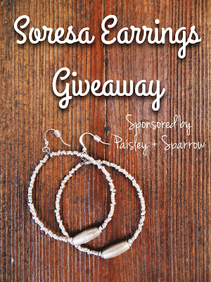 Paisley + Sparrow, soresa earrings, giveaway, freebie friday, free stuff, contest, sweepstakes, fair trade, fair trade jewelry
