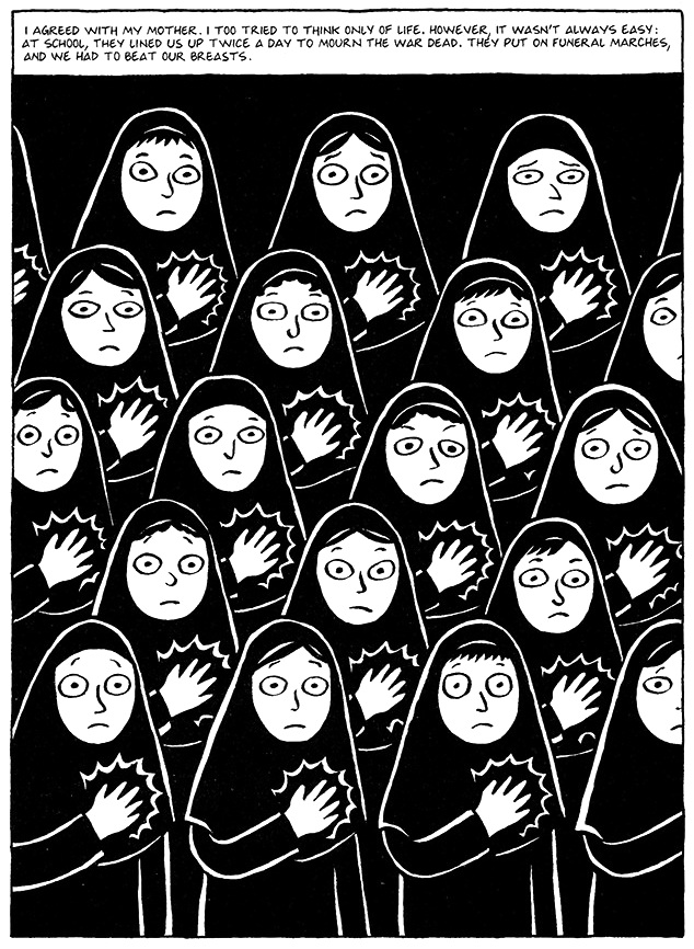 Read Chapter 13 - The Key, page 93, from Marjane Satrapi's Persepolis 1 - The Story of a Childhood