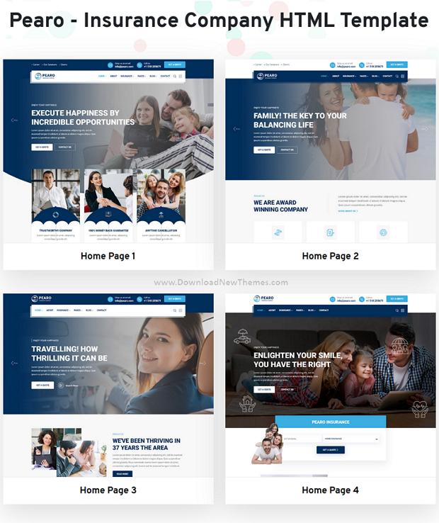 Pearo - Insurance Company HTML Template