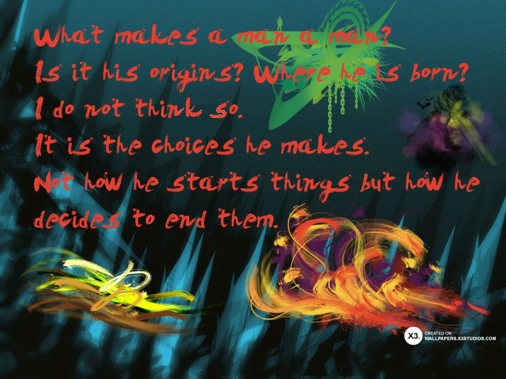 White Eclipse: Hellboy Quote What Makes A Man A Man?
