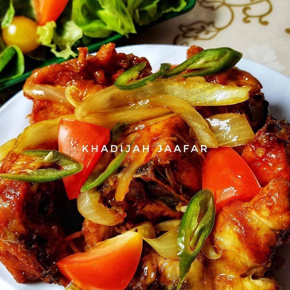 Resepi Ayam Madu Sos Tiram