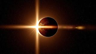 Resultado de imagem para imagem de eclipse solar de lua nova