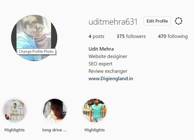 Udit Mehra Instagram