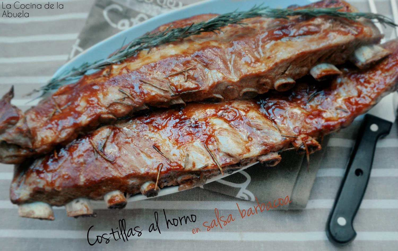Costillas al horno con salsa barbacoa bbk la cocina de - Barbacoa con horno ...