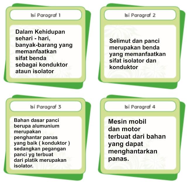 kunci jawaban dari isi paragraf bacaan penggunaan benda konduktor dan isolator