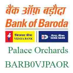 Vijaya Baroda Bank Palace Orchards Branch New IFSC, MICR