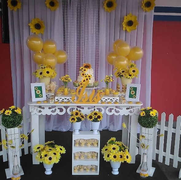 101 fiestas 10 decoraciones en amarillo y blanco - Decoracion en amarillo ...