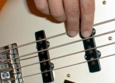 right hand fingering for the bass guitar