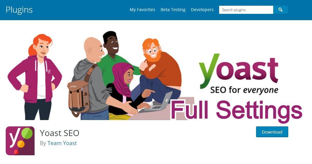 Yoast SEO plugin Settings