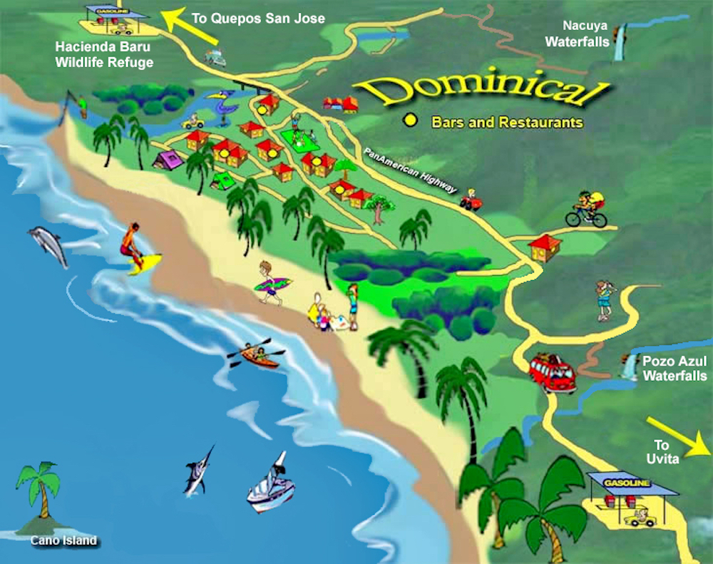 playa dominical costa rica map Life In The Slow Lane The Pearl Jan 31 Dominical Costa Rica playa dominical costa rica map