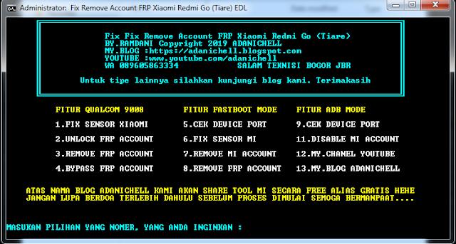 Cara Bypass FRP Account Xiaomi Redmi Go (Tiare)