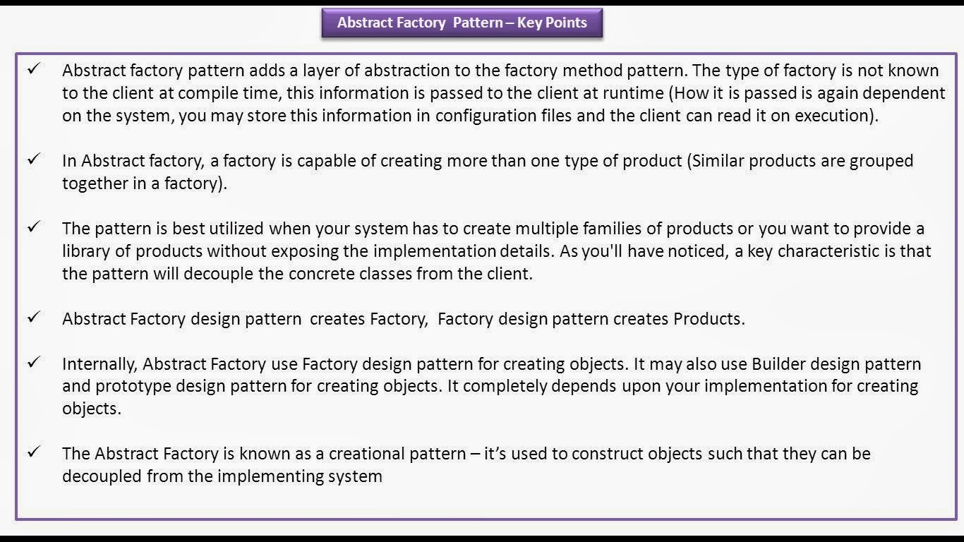 Abstract Factory Design Pattern Best Decorating Design