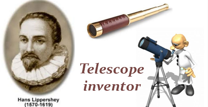 Telescope inventor in Hindi