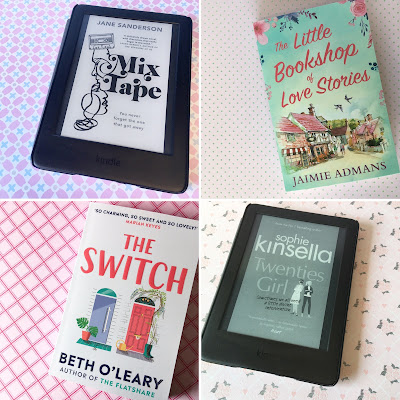 The Little Bookshop of Love Stories by Jaimie Admans, Mix Tape by Jane Sanderson, The Switch by Beth O'Leary, Twenties Girl by Sophie Kinsella