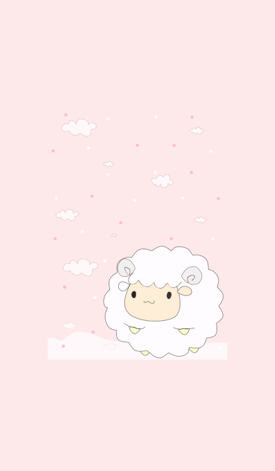 Happy baby sheep