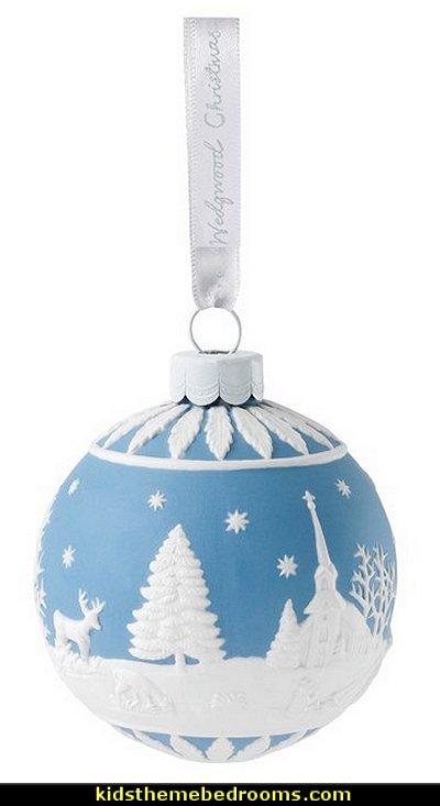 Winter Scene Ball Ornament
