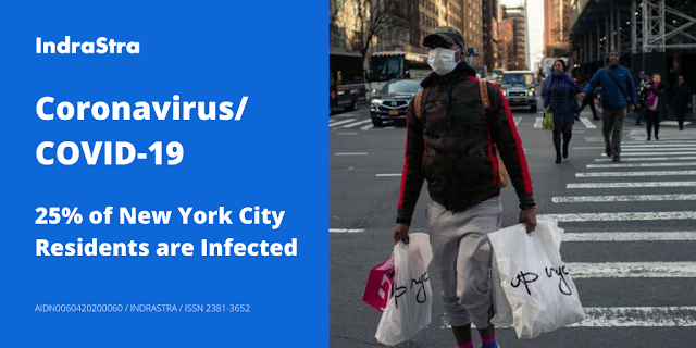 Coronavirus/COVID-19: 25% of New York City Residents are Infected