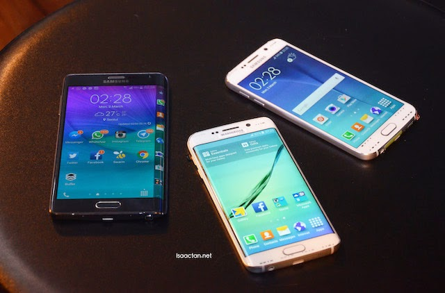 The Samsung Galaxy S6, Samsung Galaxy S6 edge, and the Samsung Note edge