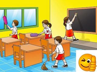 bersih bersih ruangan kelas ww.simplenews.me