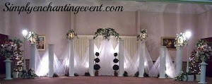 Tulle Cross Wedding Backdrop