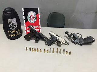 Polícia detém mais de 20 suspeitos e apreende 31 armas de fogo